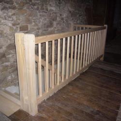 garde corps long en bois