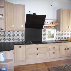 cuisine chêne granit noir